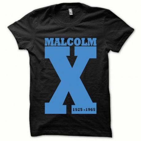 Tee shirt Malcom X bleu/noir