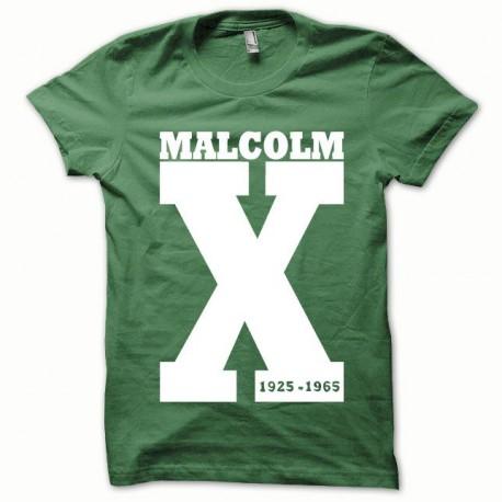 Tee shirt Malcom X blanc/vert bouteille