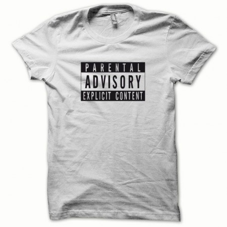 Tee shirt Parental Advisory noir/blanc