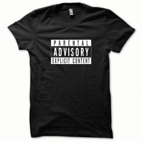 Tee shirt Parental Advisory blanc/noir